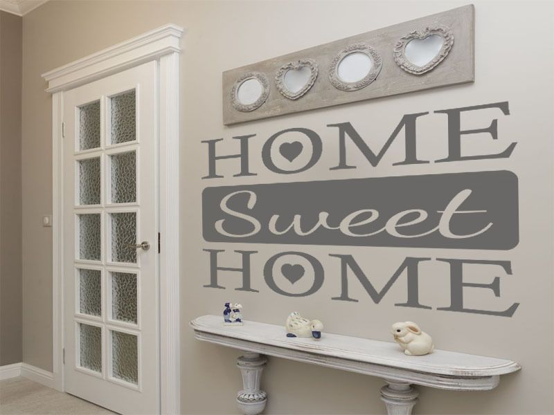 Home Sweet Home Wall Quote Wall Sticker Decal Modern Vinyl
